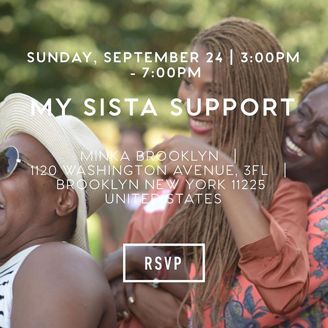 "I'm honored and happy to be assisting  @rebekahlove_ for her sister circle and blog launch party at ""My Sista Support"" on 9/24/17 from 3-7pm @minkabrooklyn 🌻Come out and join us for food, music, gift bags and the most interactive exercises to connect with other beautiful women 🌸✨🌸✨🌸 RSVP link in her bio👉🏾 @rebekahlove_  music by @jamilawoods #youalrightsis #mysistasupport  #sistercircle #blackgirlmagic"