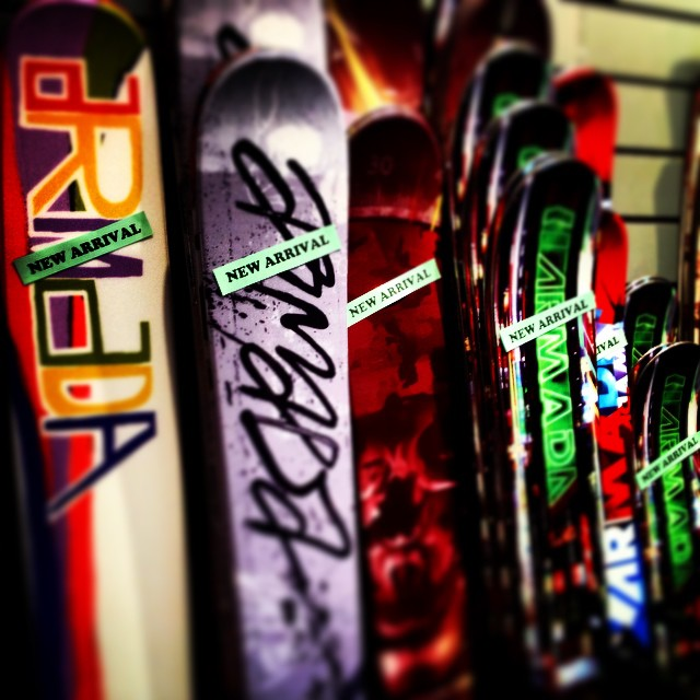 RE-OPENING TUESDAY SEPT. 2!!!! New @armadaskis in stock an more freight coming in daily #bringonwinter #bigfatpowderskis