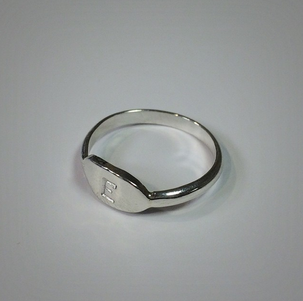Shop our Customizable Initial Ring!