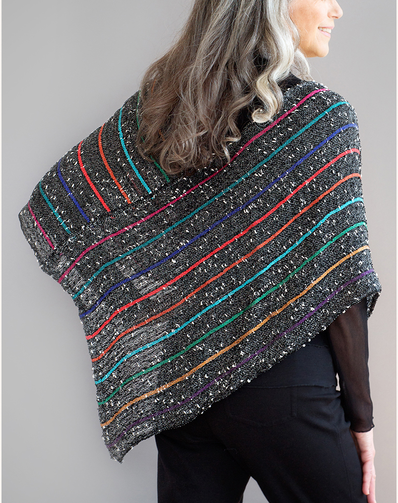 Multicolored Mobius Shawl, Rayon, Novelty