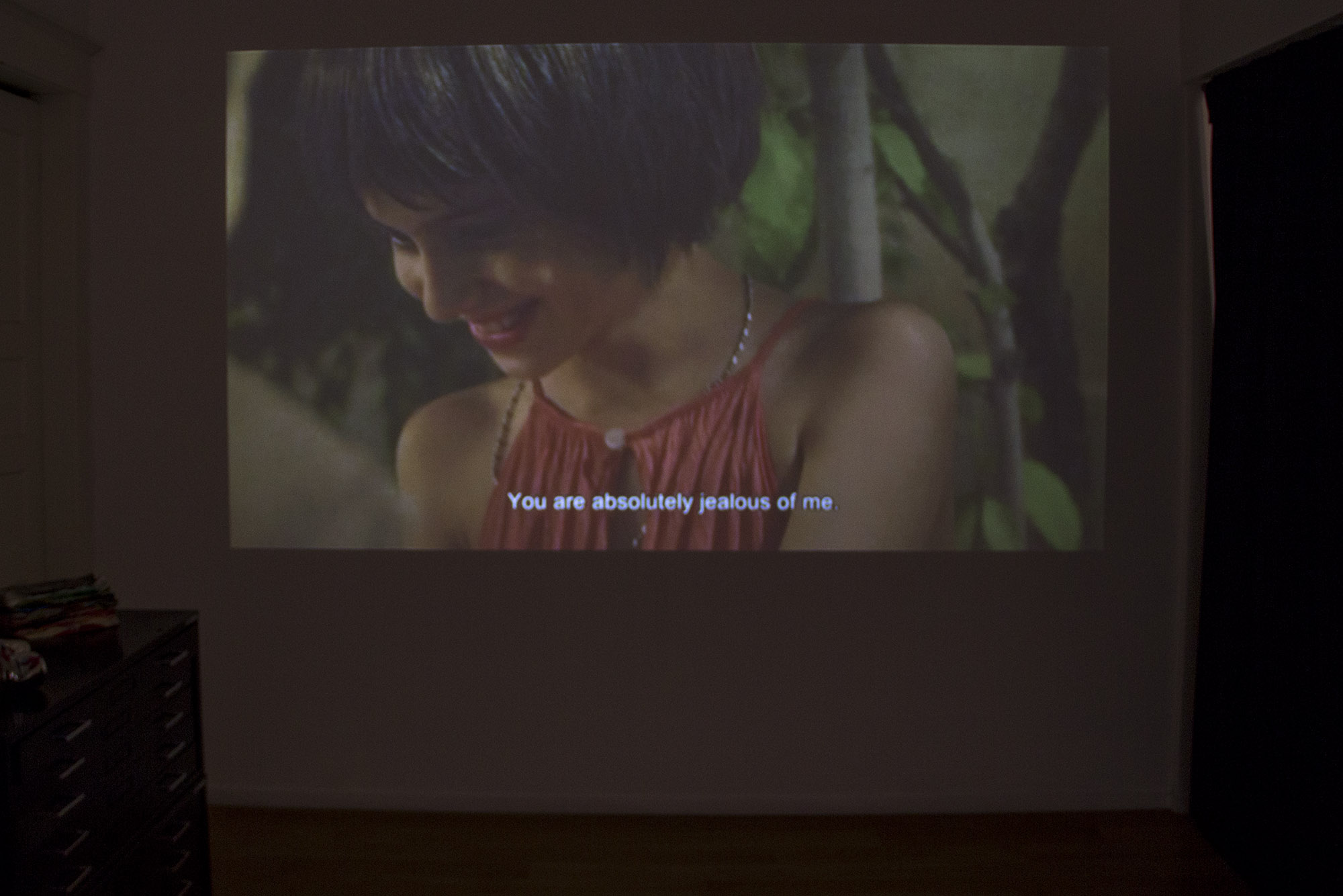 After Party (Detail), Curated by: Pegah Vaezi, Video Installation on view in the second room of the gallery, by: Anahita Ghazvinizadeh, When the Kid was a Kid, 2011, Iran, 17 minute film. To see more work in the exhibition visit  Fouladi Projects Website .