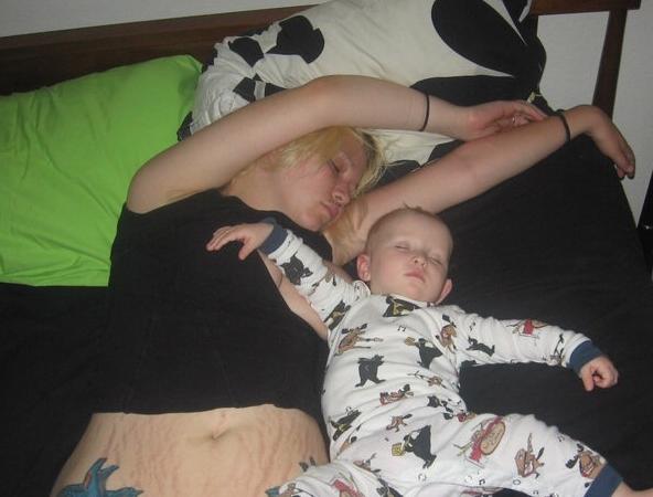 co-sleeping with saige