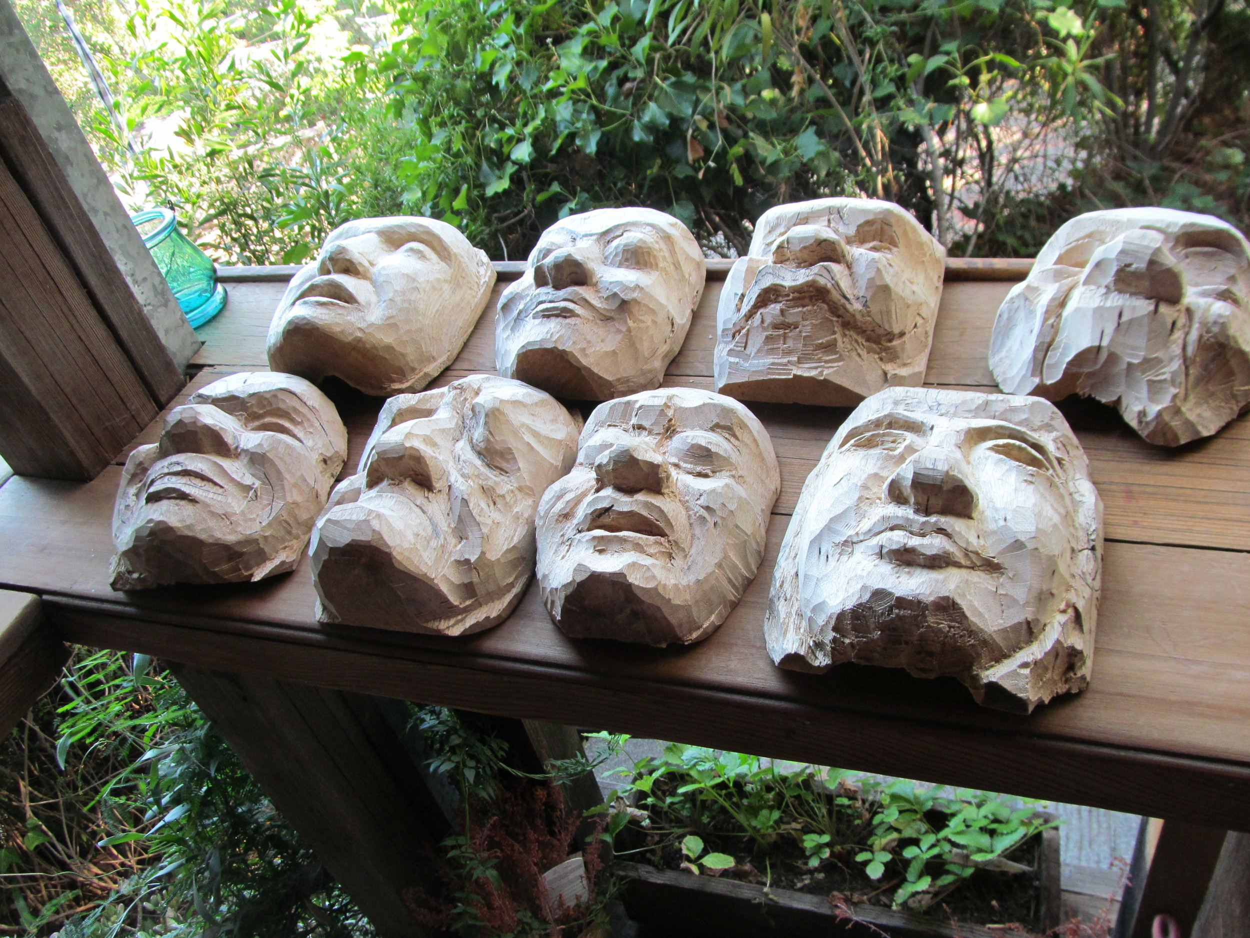 Masks from 2015 Balinese Mask Carving Workshop