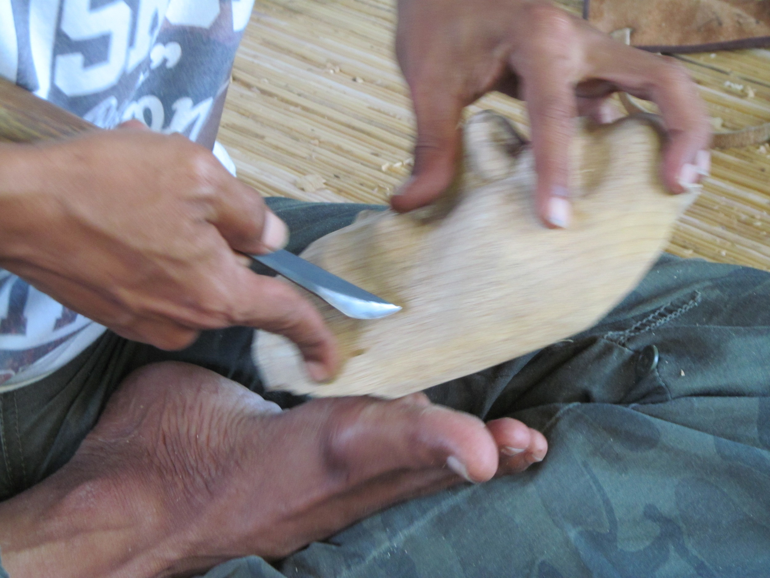 Lots of time to practice using the Balinese smoothing knives.