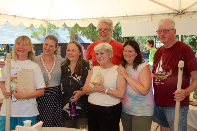 Here is our group at the group show on the final day. I have to say it was a lot of work but the carvers were fabulous and the atmosphere wonderful. Great Fun!