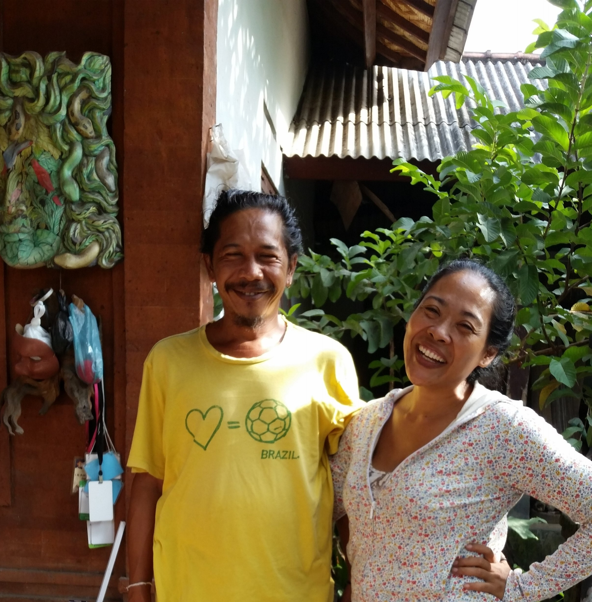 My most gracious hosts, Anom and Dayu. I was treated so well.