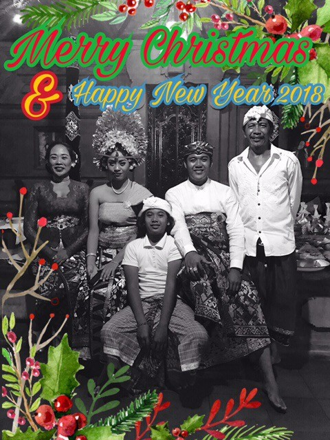 I wanted to pass on this Holiday greeting from our friend and fellow woodcarver, Anom and his family.