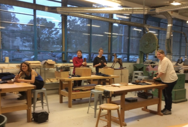 Last month was the start of a new series of classes at the Randall Museum newly renovated shop space. It is a gorgeous new space for wood carving.