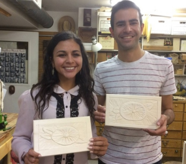 Dalia and Tarek had a private lesson and powered through the flower carving in just two hours.