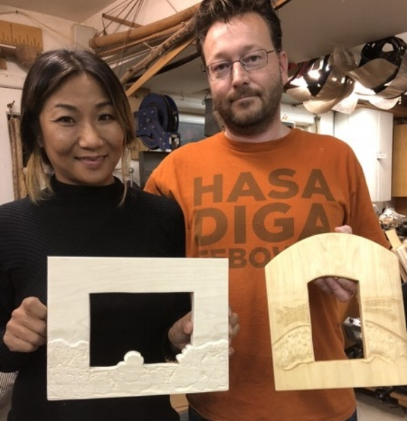 I sometimes get requests for private lessons. Suchi and James did a private class for their anniversary. They cut and carved these lovely picture frames to frame some special pictures.
