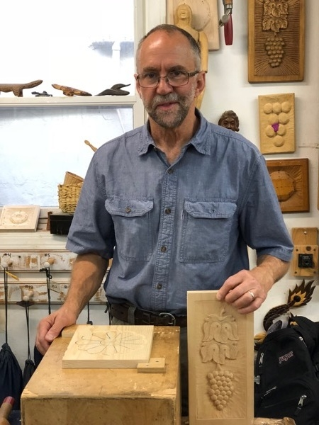 Jon finished Grapes and Leaves and is on to mastering decorative carving in the Southwest style.