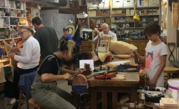 Saturday woodcarving.