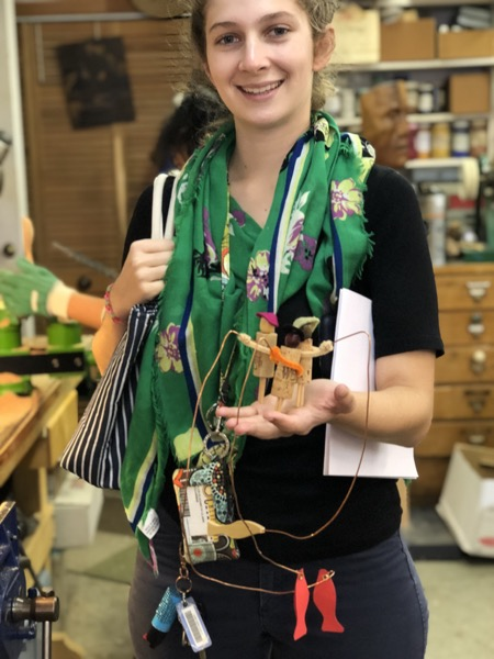 """Tyler is student teaching and is hoping to make toys with her 4th graders for her """"solo"""" teaching days. In preparation on Saturday she made 3 Balancing Fishermen toys. She will do a few more to be ready."""