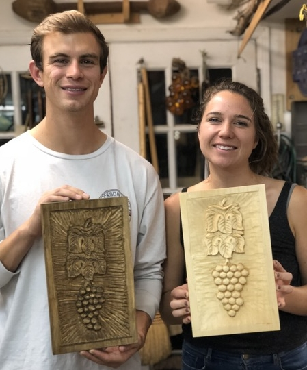 On Thursday evening Nicole and Kyle finished Grapes and Leaves. Welcome to our group.