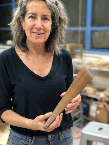 Sarah from the Randall Class made this beautiful wood spatula from the fall off from her spoon.