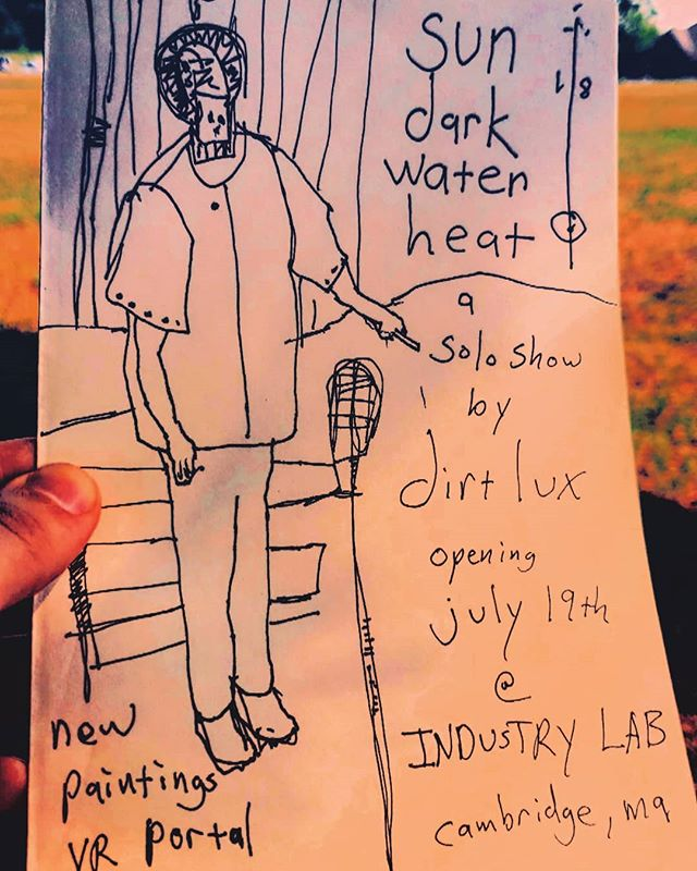 sun//dark//water//heat . . dirt lux solo show featuring new paintings and vr portal. You know i cant wait.  Opening July 19th @industry_lab . Come one, summer time, #takeyourshirtoff