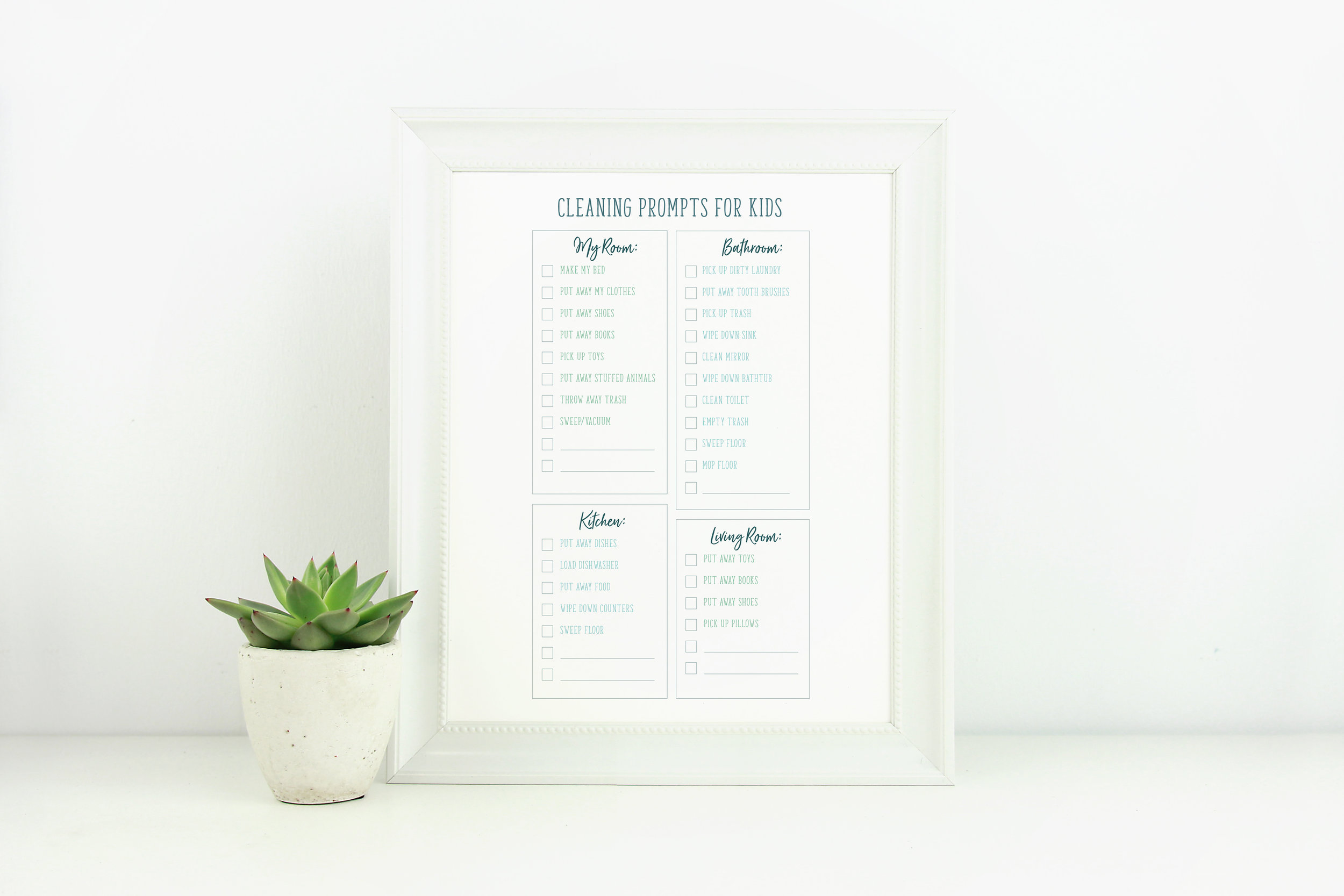 Cleaning Prompts and chore charts For moms who are busy!
