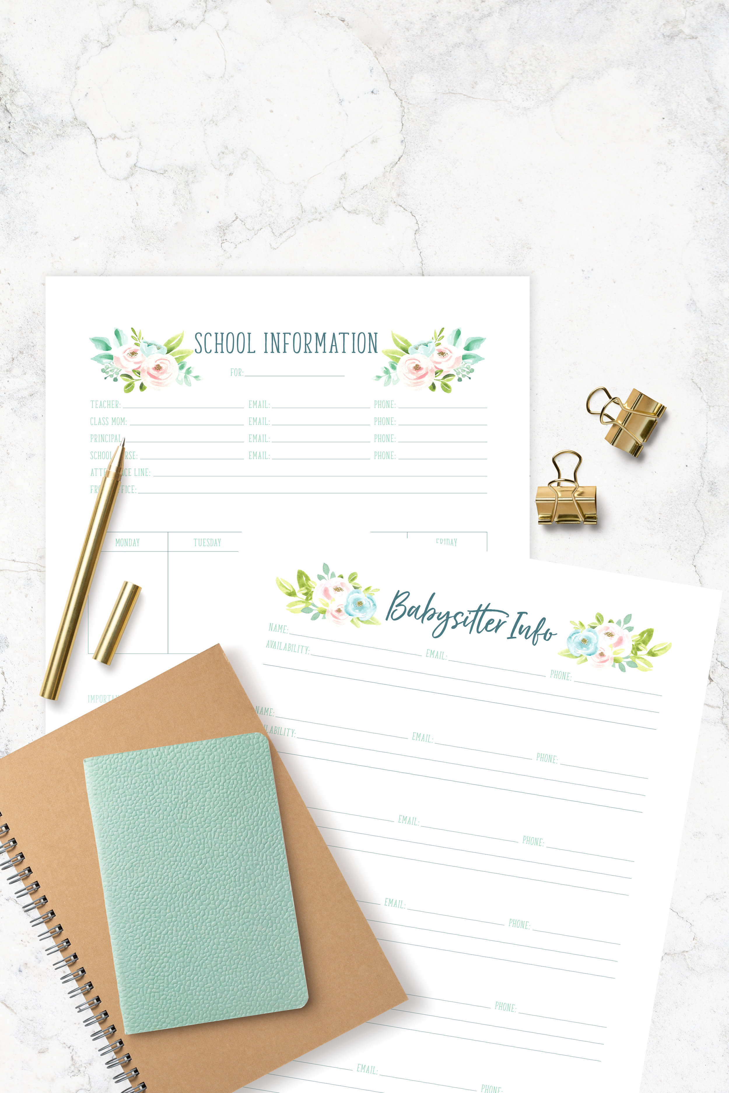 Printable Trackers
