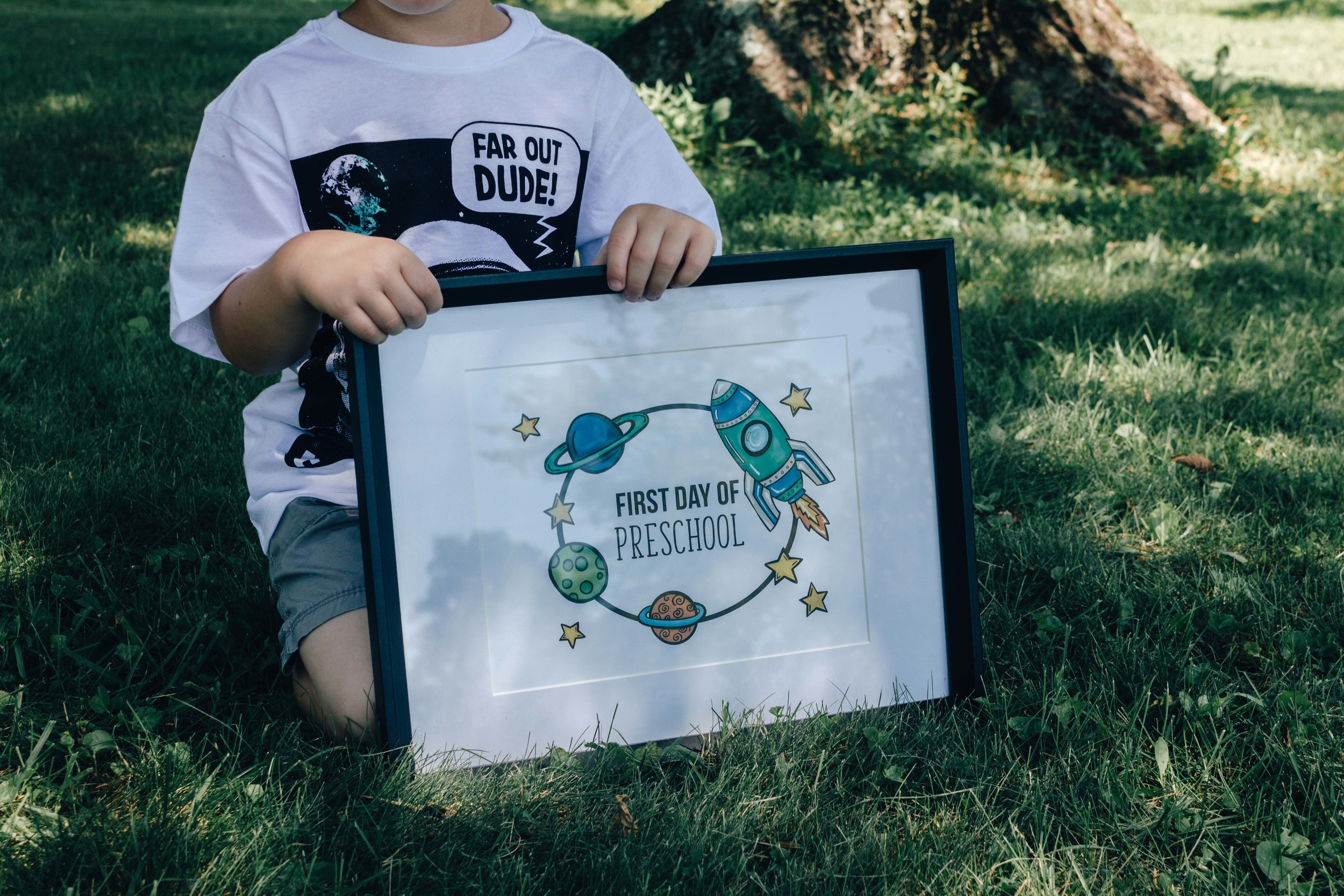 Outer Space First Day of School Print