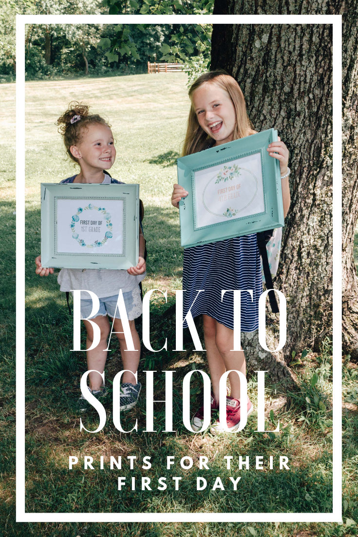 Back to school prints for their first day