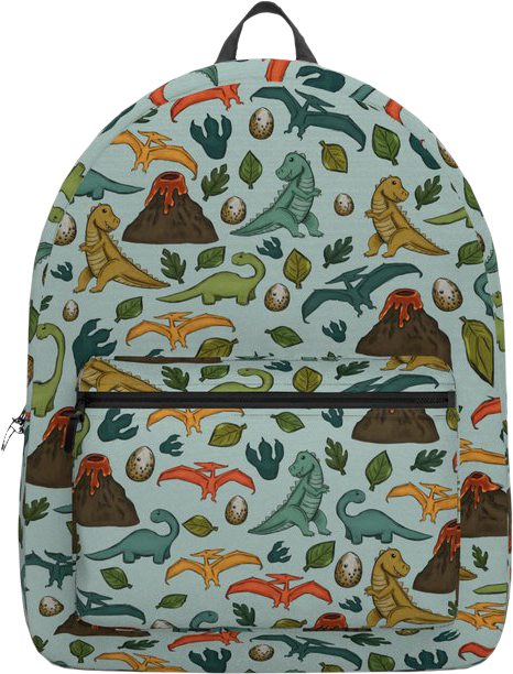 Dinosaur Blue Backpack