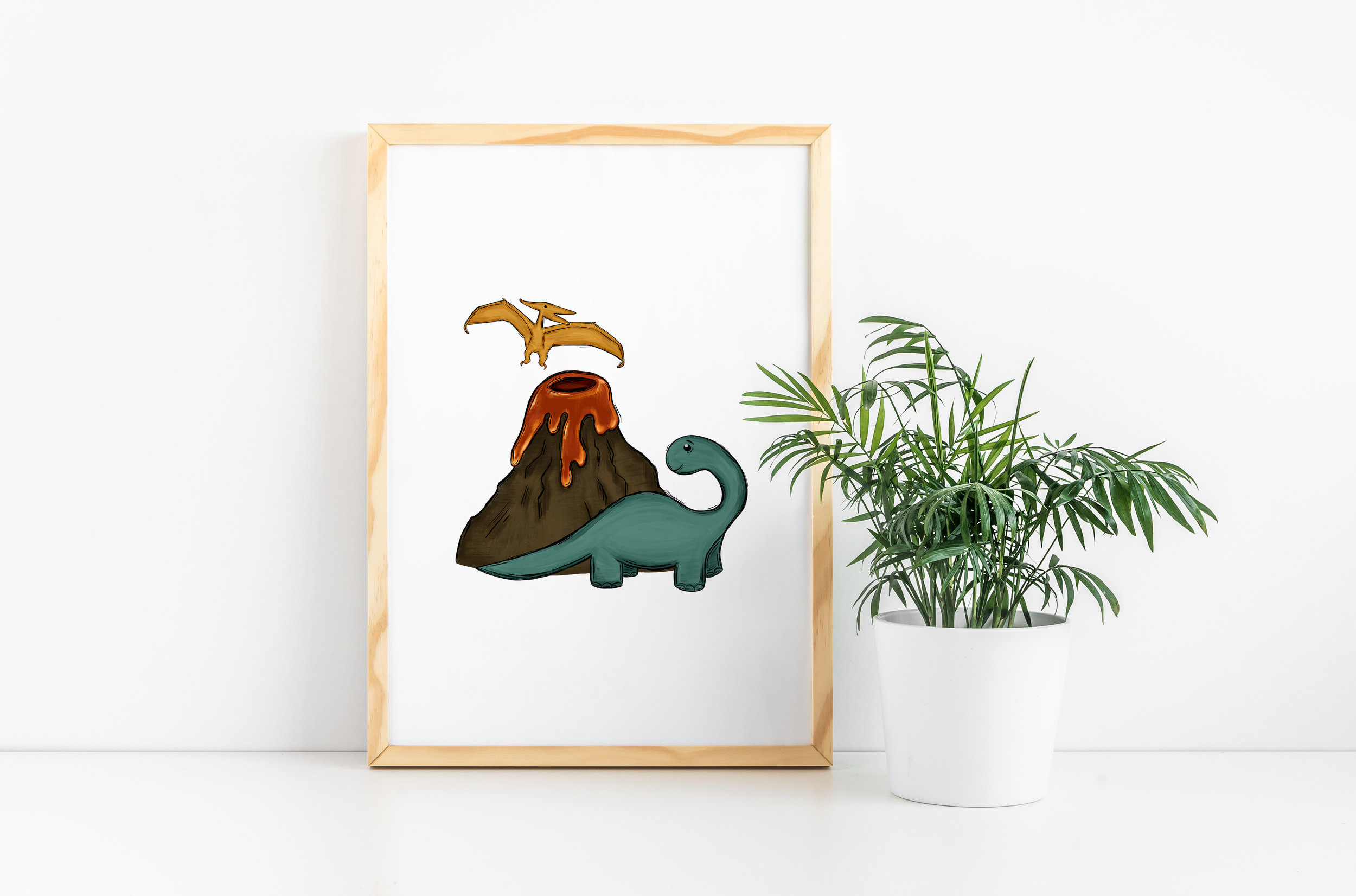 Jurassic Period Art Decor For Kids