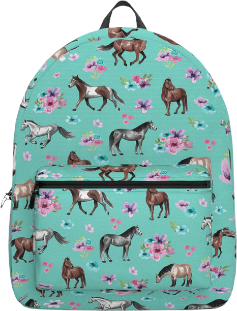 Horses and Flowers Backpack