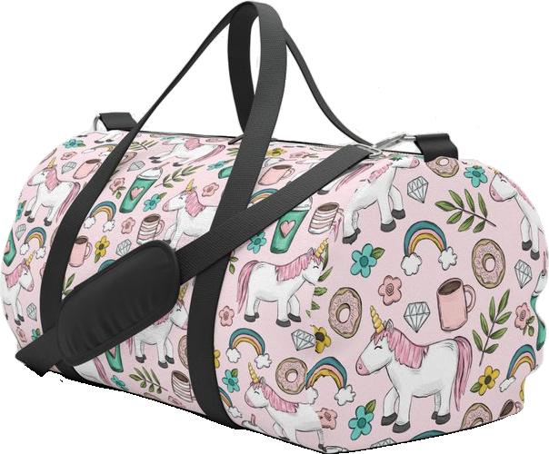Pink Unicorn Duffle Bag