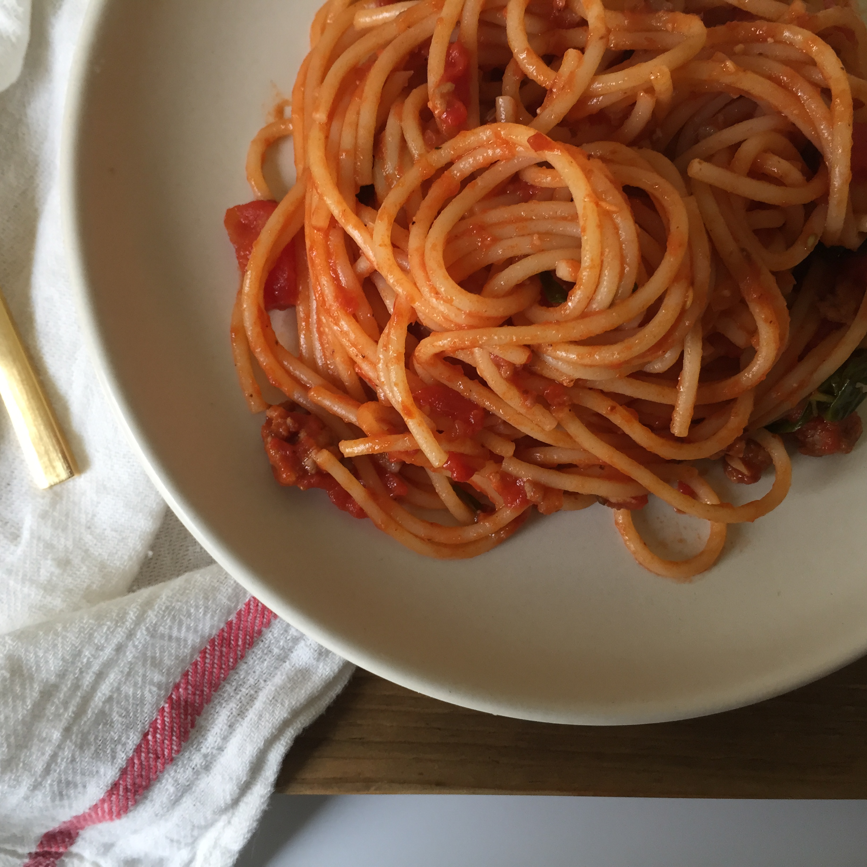 pasta overhead