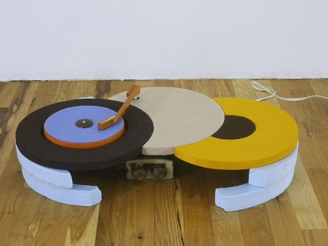 Turntable with Blue Record, 2002