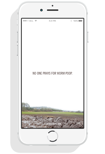"Click image above to download an exclusive ""worm poop"" phone wallpaper. :-)"