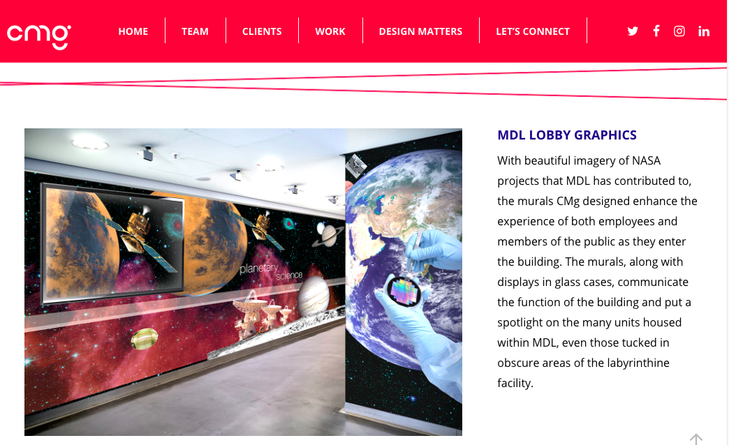 CMg Design - MDL Lobby Graphics