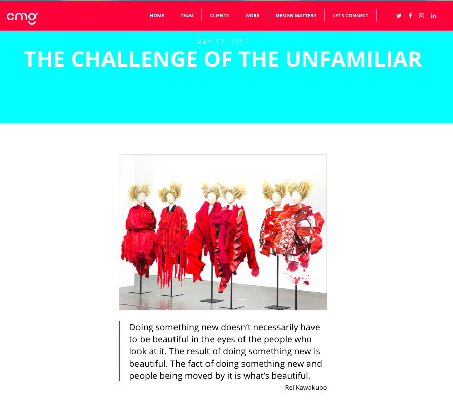 Challenge of the Unfamiliar