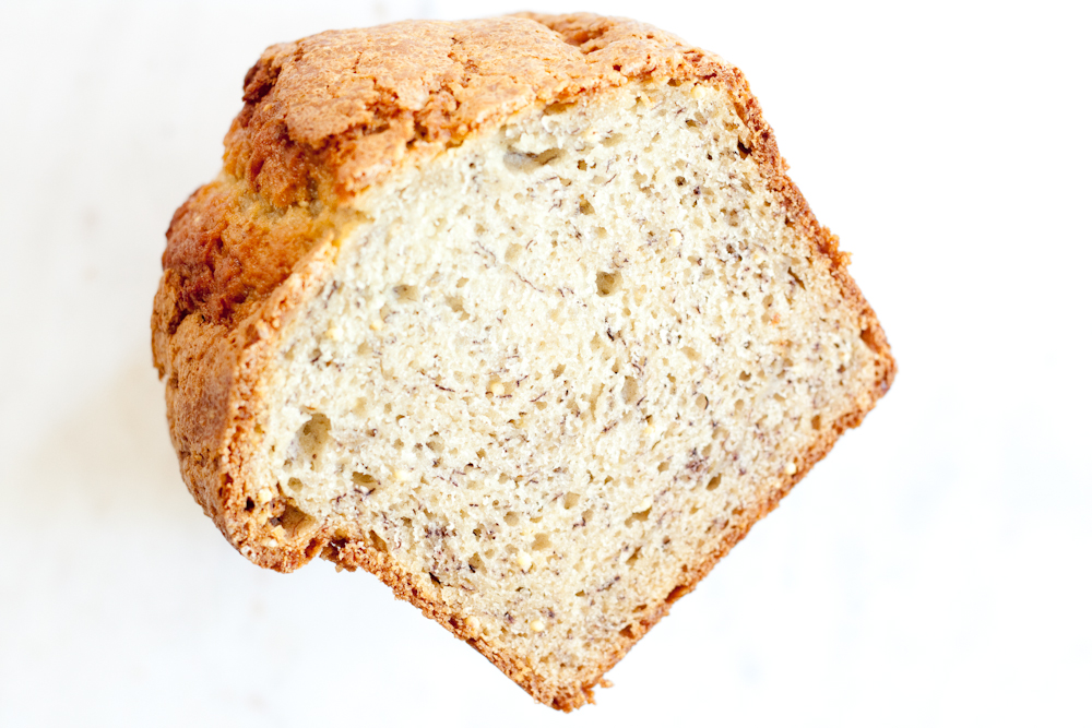 banana bread with toasted millet
