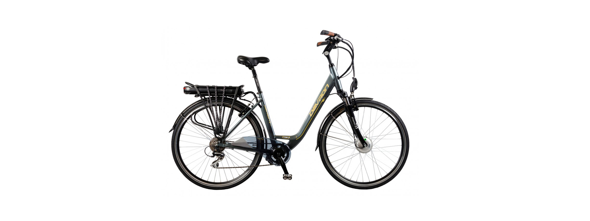 E-City Bike - Motor 36V, 250W, 70km autonomieCadru aluminium, 8 viteze, V-brake Tektro100 lei/zi