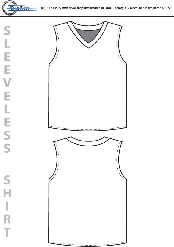 The Print Shop Sleeveless Shirt Template