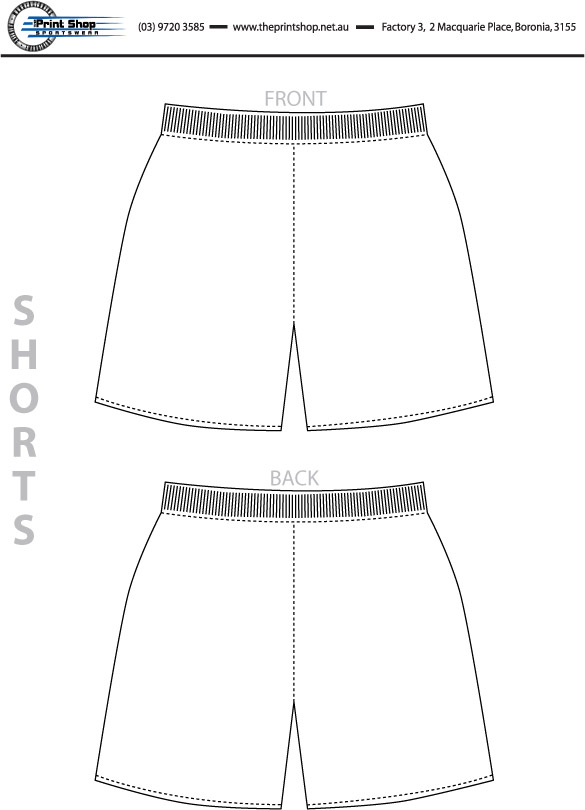 The Print Shop Shorts Template