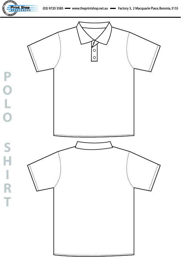 The Print Shop Polo Shirt Template