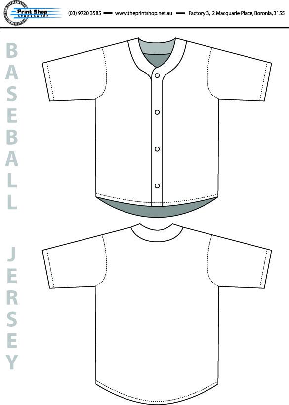 The Print Shop Baseball Jersey Template