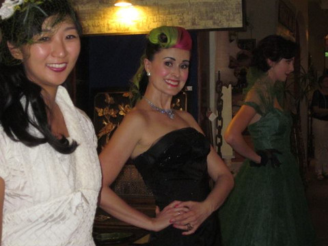 Backstage with Megan & Ehran. Yes, I bought this dress! :P