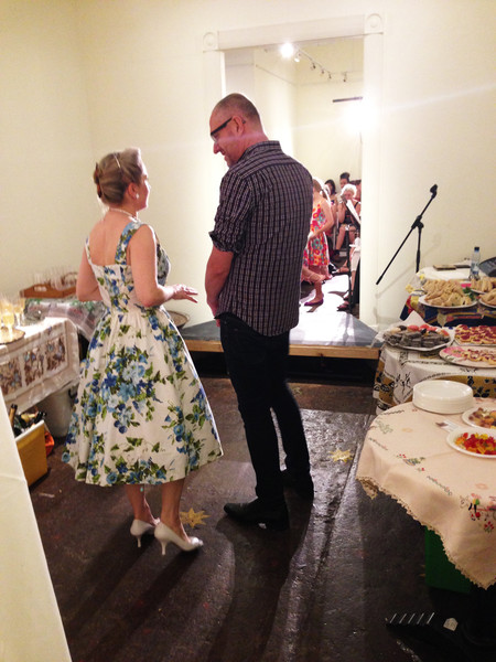 Deborah from The Vintage Drawer was also the MC. Here she is discussing the details backstage with the Manager of Sydney Antique Centre.