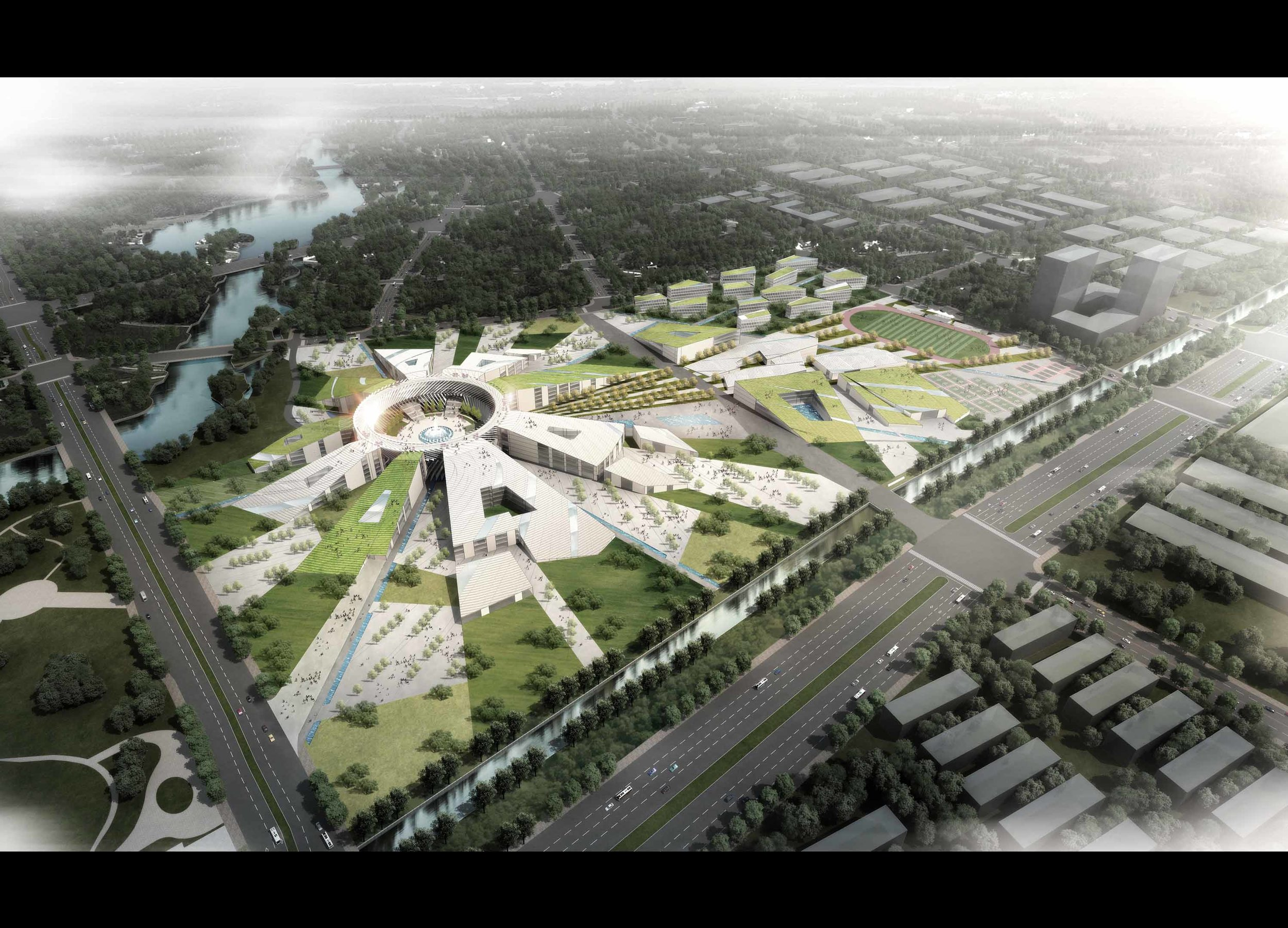 architecture and engineering office Berlin competition rendering