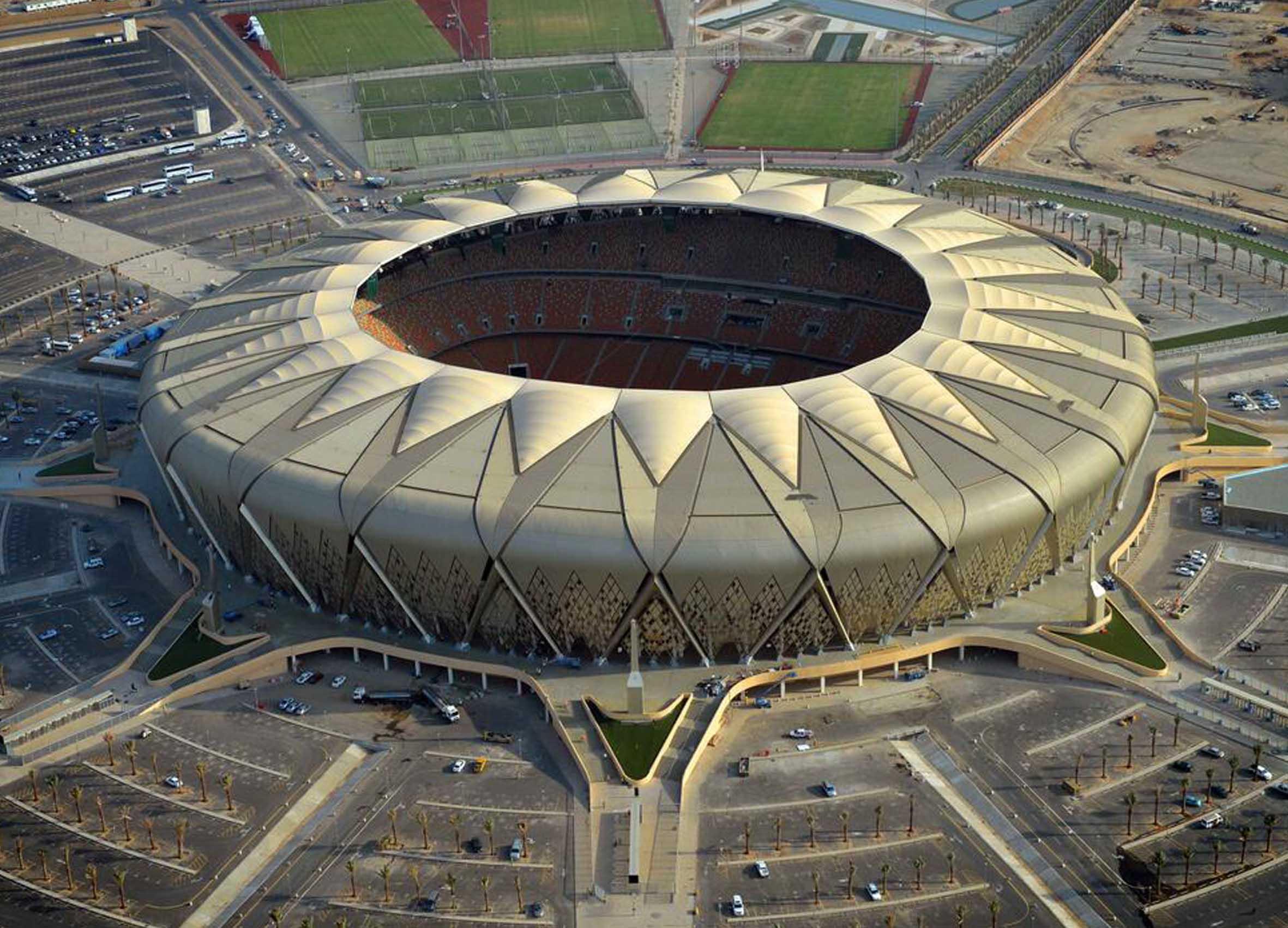 King Abdullah Sport City,Saudi Arabia - KASC, Main Stadium facades, ARUP Associates