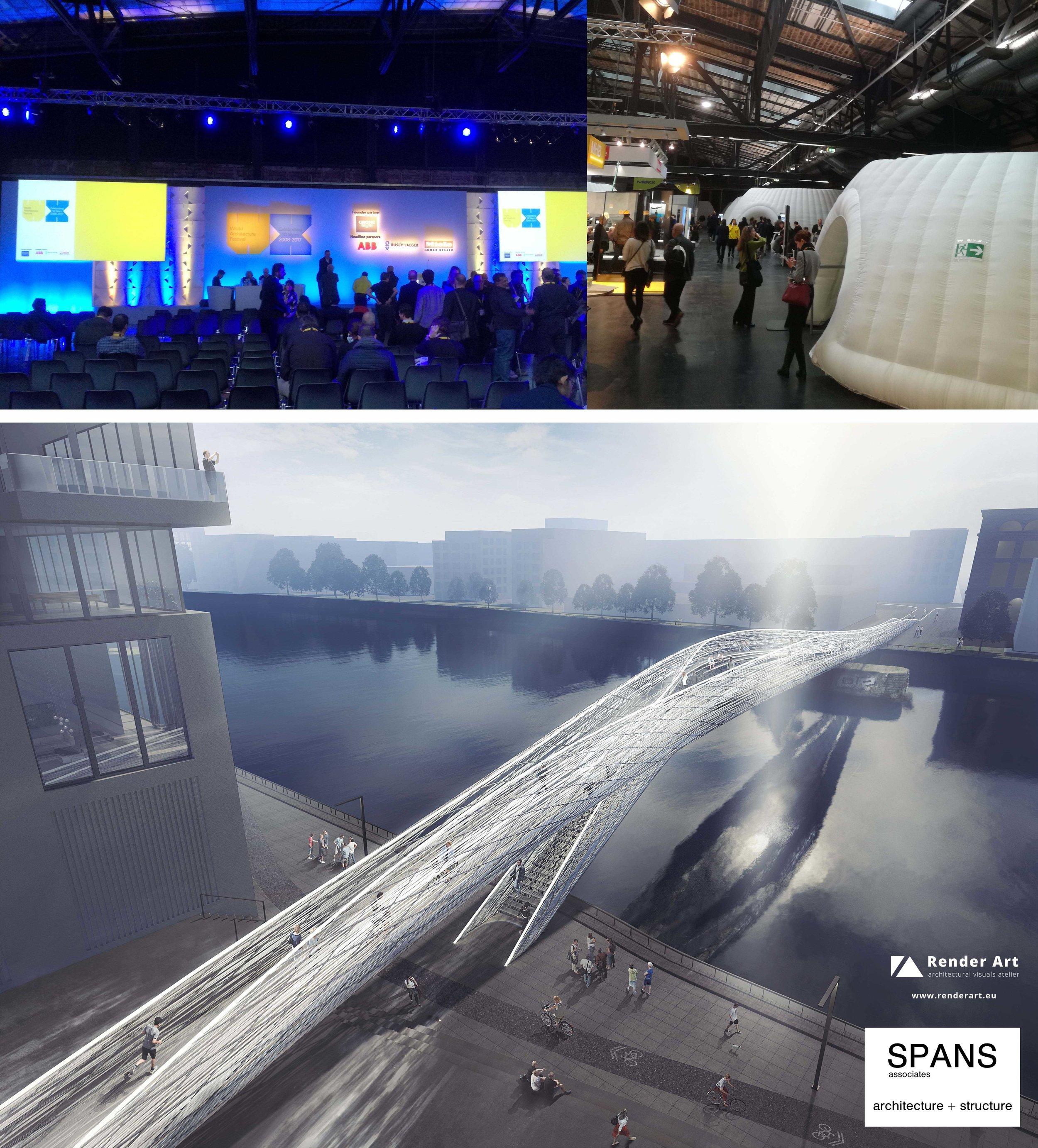 Render Art , rendering  #SPANSassociates #theflowingbridge  #waf   #worldarchitecturefestival   #renderart   #vision  #architecturestorytelling  #impressions