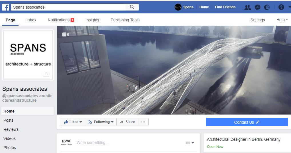 SPANS associates - Facebook Page, Nicolas Sterling, Elke Sterling Presser, Architects Engineers