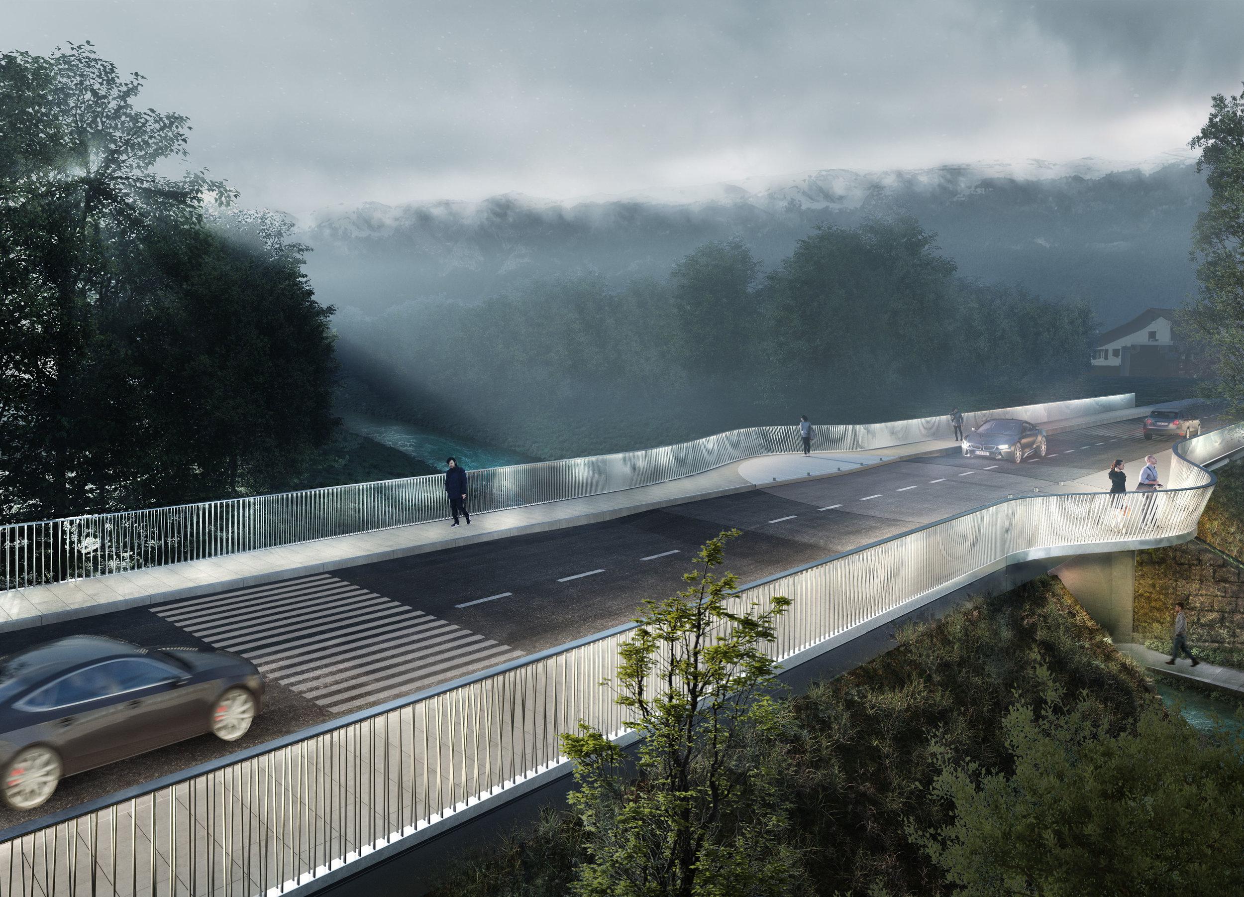 Infrastruktur - Brücke Pont du Lion, Saint Genis, France