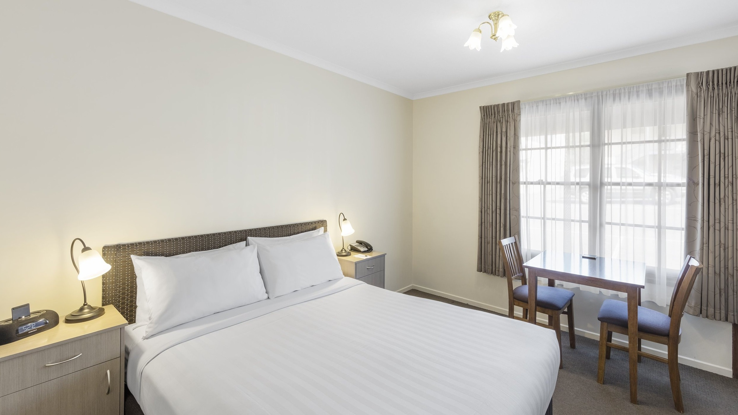 Standard Queen - A comfortable guest room ideal for solo travellers or a couple, with 1 x queen bed and a private ensuite.⨠ View Room Details