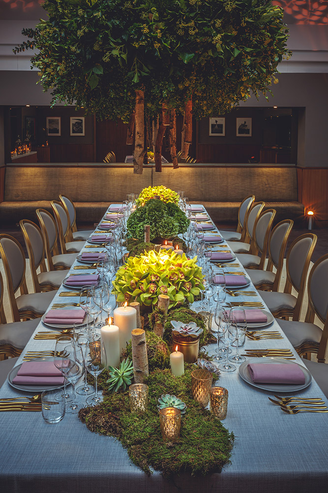 Creventive Private Dinner Bluebird Event Design Production catering Furniture