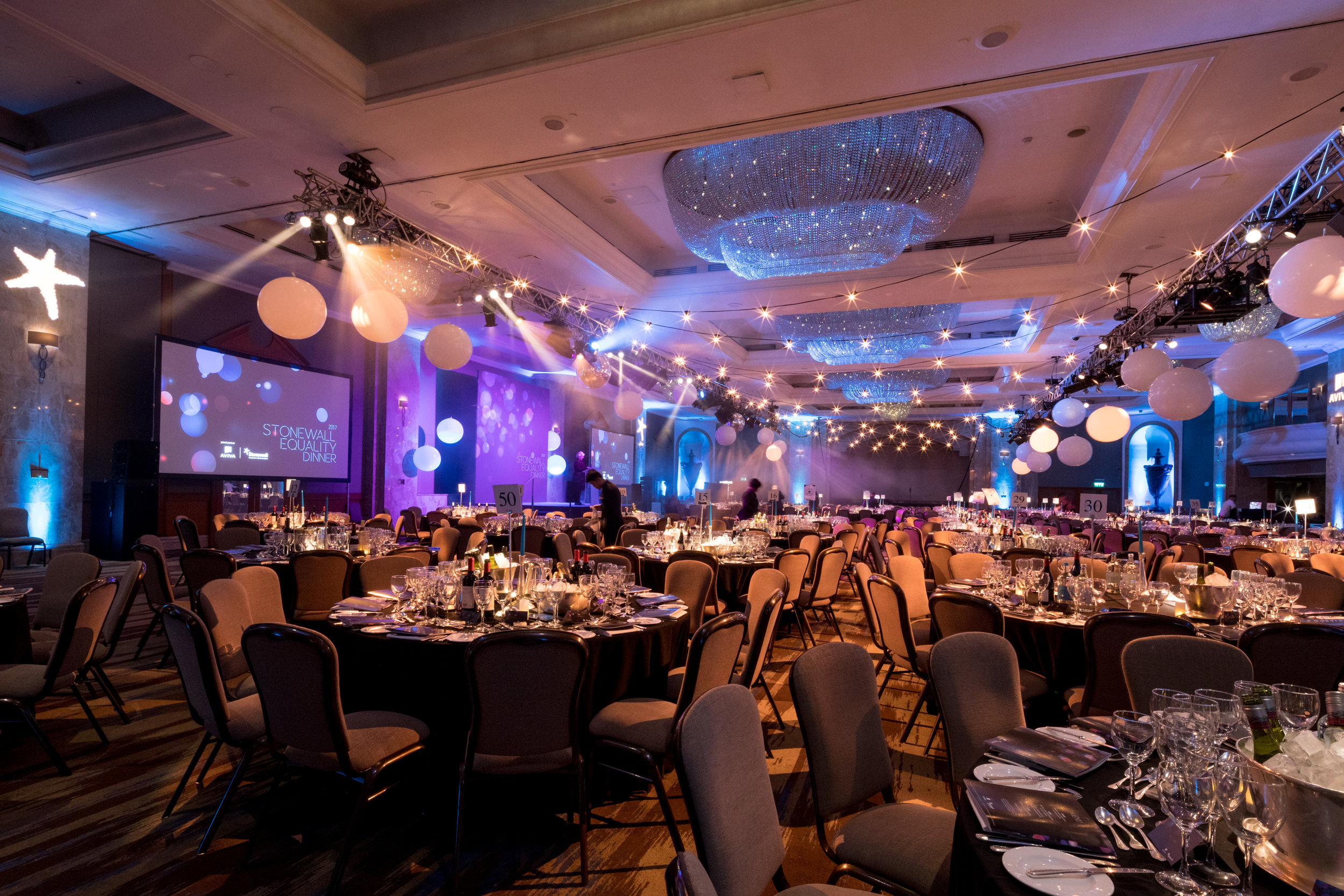 Creventive Hilton Park Lane Awards Charity Dinner Event Design Production