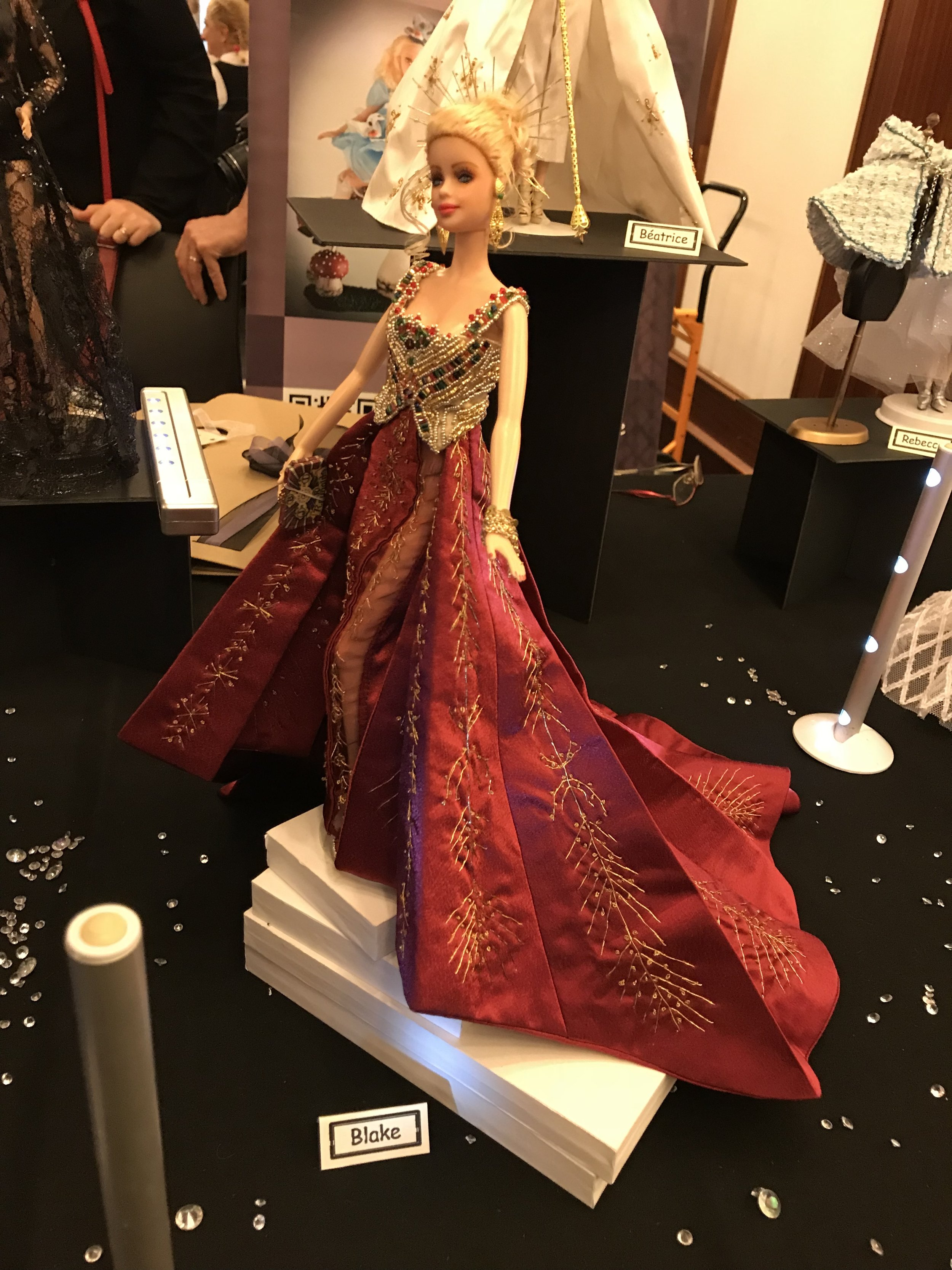 Corinne made an awesome replica of Blake Lively's dress from this year's Met Gala
